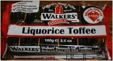 WALKER'S - ANDY PK TRAY LICORICE TOFFEE